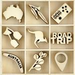 Australiana Themed Mini Wooden Flourishes 45/Pkg