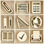 Classroom Themed Mini Wooden Flourishes 45/Pkg