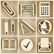 Classroom Themed Mini Wooden Flourishes 45/Pkg