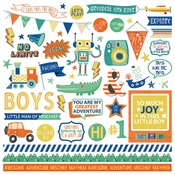 Boys Rule Element Stickers - Photoplay
