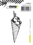 """Ice Cream Cone - Carabelle Studio Cling Stamp Small 2.76""""X.91"""""""