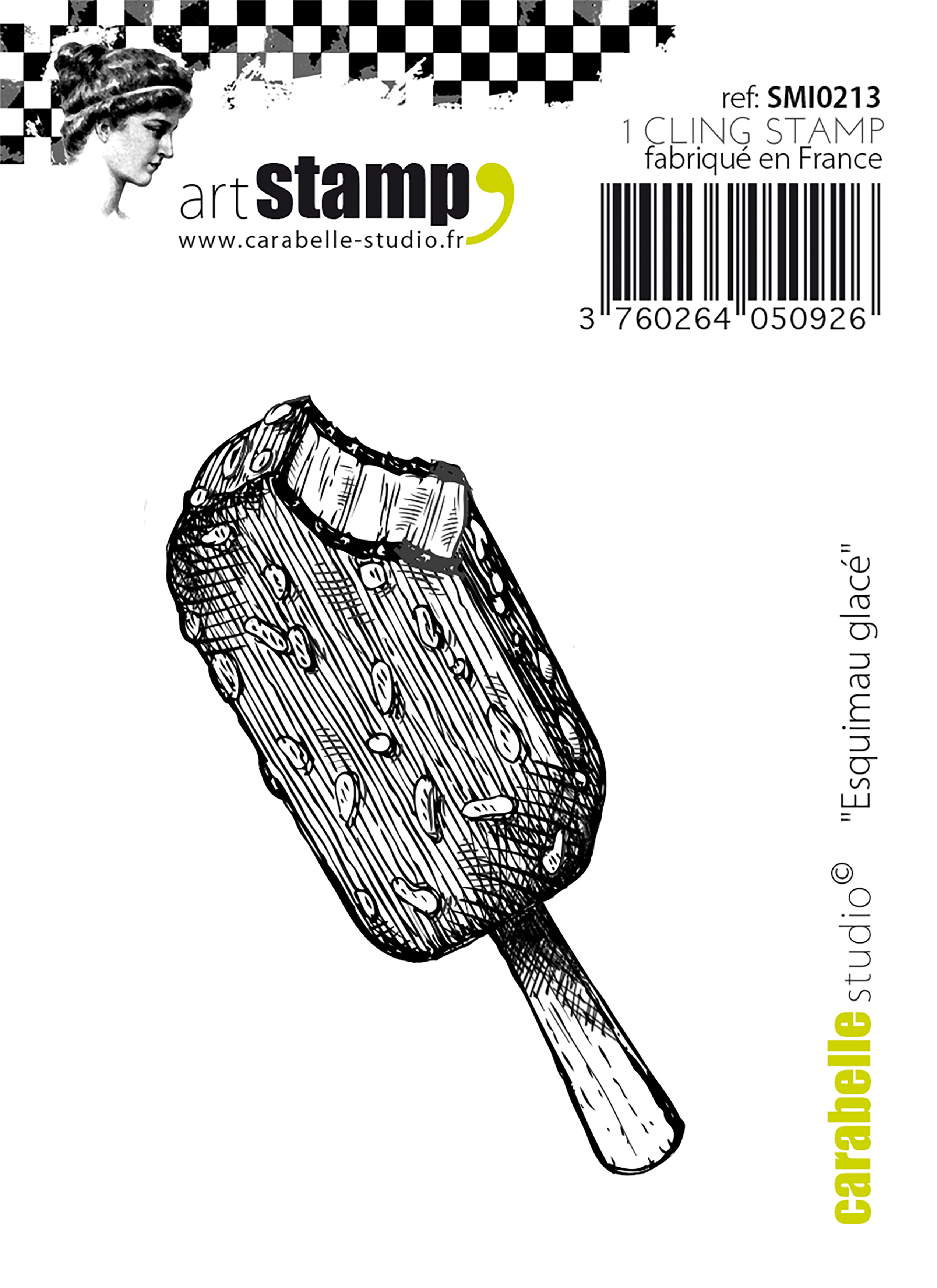 Ice Cream Treat - Carabelle Studio Cling Stamp Small 2.56