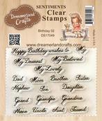 "Birthday 02 - DreamerlandCrafts Clear Stamp Set 3""X4"""