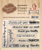 "Thank You Sentiments 001 - DreamerlandCrafts Clear Stamp Set 3""X4"""