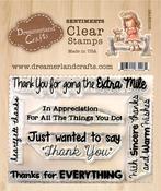 "Thank You Sentiments 002 - DreamerlandCrafts Clear Stamp Set 3""X4"""