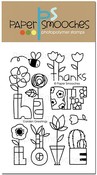 """Garden Greetings - Paper Smooches Clear Stamps 4""""X6"""""""