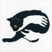 """8""""X5.5"""" 16 Count - Among Black Cats Counted Cross Stitch Kit"""