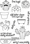 """Sticky Note - Pink & Main Clear Stamps 4""""X6"""""""