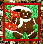 "12""X12"" - Gingerbread Man Quilt Magic Kit"