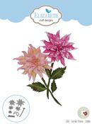 Garden Notes-Dahlia - Elizabeth Craft Metal Die By Susan's Garden Club