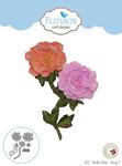 Garden Notes-Peony 2 - Elizabeth Craft Metal Die By Susan's Garden Club