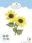 Garden Notes-Sunflower 2 - Elizabeth Craft Metal Die By Susan's Garden Club