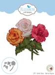 Garden Notes-Tuberous Begonia - Elizabeth Craft Metal Die By Susan's Garden Club