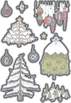 Holiday Trees & Ornaments - Elizabeth Craft Metal Die