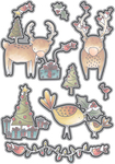 Reindeer & Birds - Elizabeth Craft Metal Die