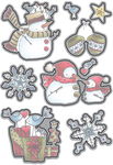 Snowman & Gifts - Elizabeth Craft Metal Die