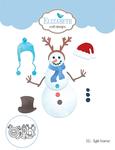 Stylish Snowman - Elizabeth Craft Metal Die