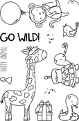 "Wild Ones - Neat & Tangled Clear Stamps 4""X6"""