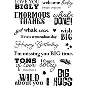 "Huge Hugs2 - Paper Smooches Clear Stamps 4""X6"""