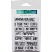 "Layers Of Love - Concord & 9th Clear Stamps 3""X4"""