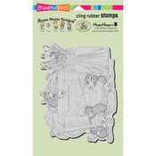 "Playful Painters - Stampendous House Mouse Cling Stamp 4""X6"""