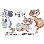 """Kitten Me - La-La Land Cling Stamps 4.5""""X3.5"""""""