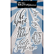 """Be Brave - Brutus Monroe Clear Stamps 4""""X6"""""""
