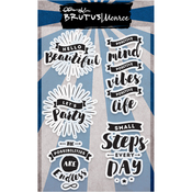 """Hello Beautiful - Brutus Monroe Clear Stamps 4""""X6"""""""