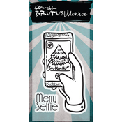 "Merry Selfie - Brutus Monroe Clear Stamps 2""X3"""