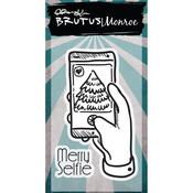 "Merry Selfie - Brutus Monroe Clear Stamps 2""X3"""