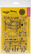 "Get Well Soon - Waffle Flower Crafts Clear Stamps 4""X6"""