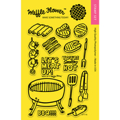 "Meat Up - Waffle Flower Crafts Clear Stamps 4""X6"""