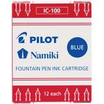Blue - Pilot MR Collection Fountain Pen Cartridge Refill 12/Pkg