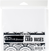 "White - Brutus Monroe Cards W/ Envelopes 6""X6"" 12/Pkg"