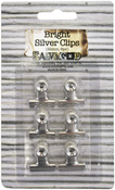 Silver - Antique Bull Clips 22mm 6/Pkg