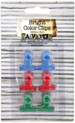 Assorted Colors - Antique Bull Clips 22mm 6/Pkg