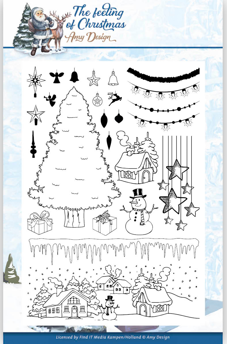 Find It Amy Design The Feeling Of Christmas Clear Stamps