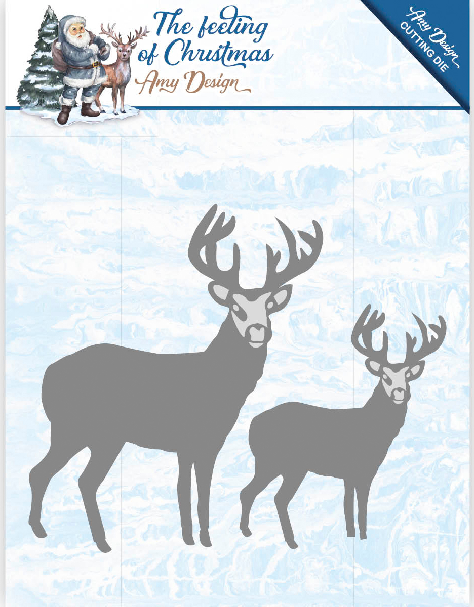 Christmas Reindeers - Find It Trading Amy Design The Feeling Of Christmas Die