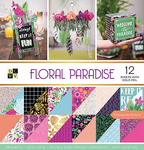 "Floral Paradise W/Gold Foil - DCWV Double-Sided Paper Stack 12""X12"" 36/Pkg"