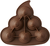 Poop Swirl 6 Cavity - RO Silicone Treat Mold Make your own poop swirl emoji cakes, brownies, cookies and more with this Rosanna Pansino Silicone Poop Swirl Treat Mold. This mold is oven safe and can also be used to mold gelatin, ice cream and candy. This package contains one 10.5x9.5x2.25 inch silicone treat mold with 6 cavities. Dishwasher safe. Imported.