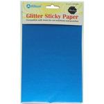 """Royal Blue - Ultra Fine Glitter Sticky Paper 6""""X9"""" 5/Pkg"""