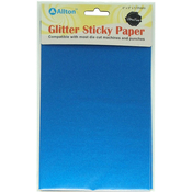 "Royal Blue - Ultra Fine Glitter Sticky Paper 6""X9"" 5/Pkg"