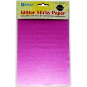 """Rose Pink - Ultra Fine Glitter Sticky Paper 6""""X9"""" 5/Pkg"""