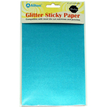 """Aqua Blue - Ultra Fine Glitter Sticky Paper 6""""X9"""" 5/Pkg"""