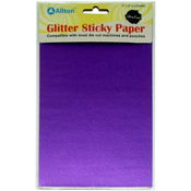 "Purple - Ultra Fine Glitter Sticky Paper 6""X9"" 5/Pkg"