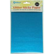 """Sky Blue - Ultra Fine Glitter Sticky Paper 6""""X9"""" 5/Pkg"""