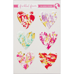 Foiled Hearts - Freckled Fawn Epoxy Stickers