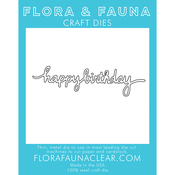 Happy Birthday -Cursive - Flora & Fauna Dies