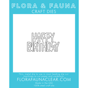 Happy Birthday -Stacked - Flora & Fauna Dies