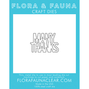 Many Thanks - Flora & Fauna Dies
